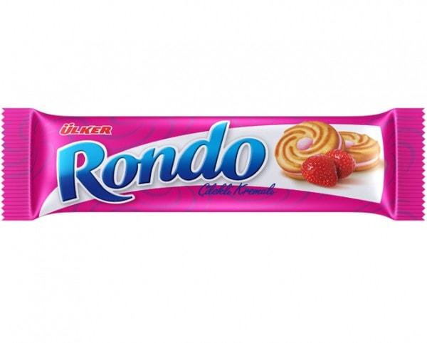 ÜLKER Rondo Kekse mit Erdbeercremefüllung