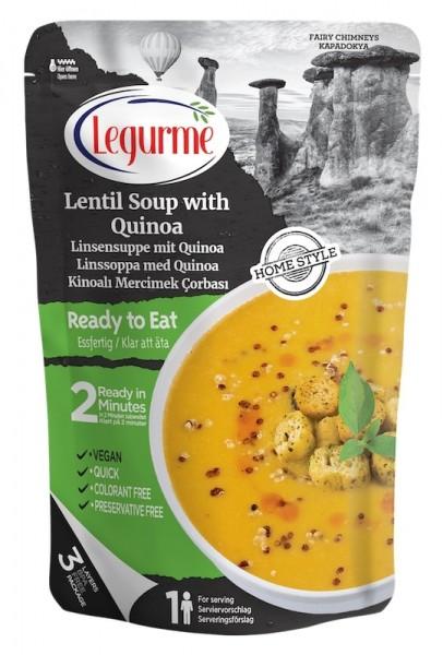 Linsensuppe mit Quinoa