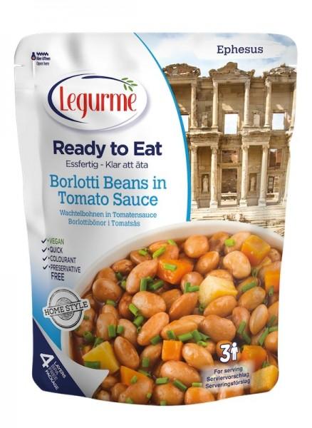 Wachtelbohnen in Tomatensauße