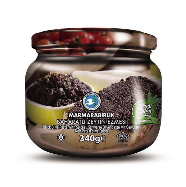 Schwarze Olivenpaste gewürzt 340g