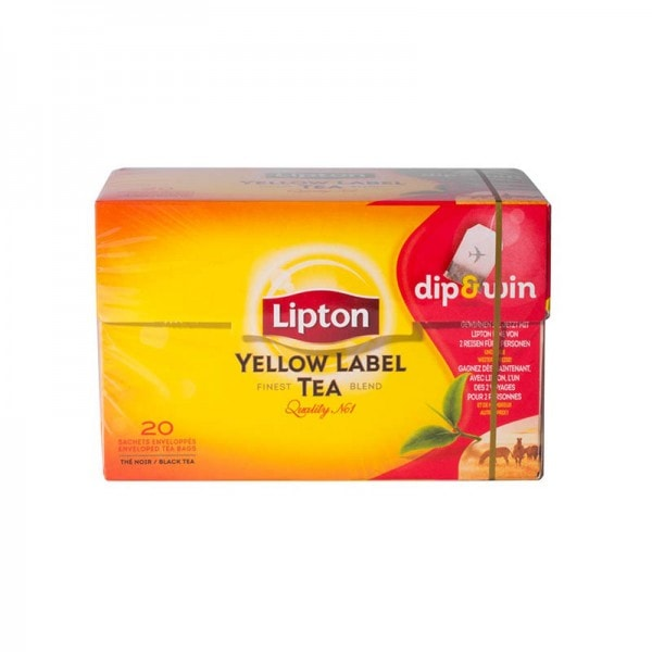Lipton Yellow Label Tea Schwarzer Tee 20 Beutel
