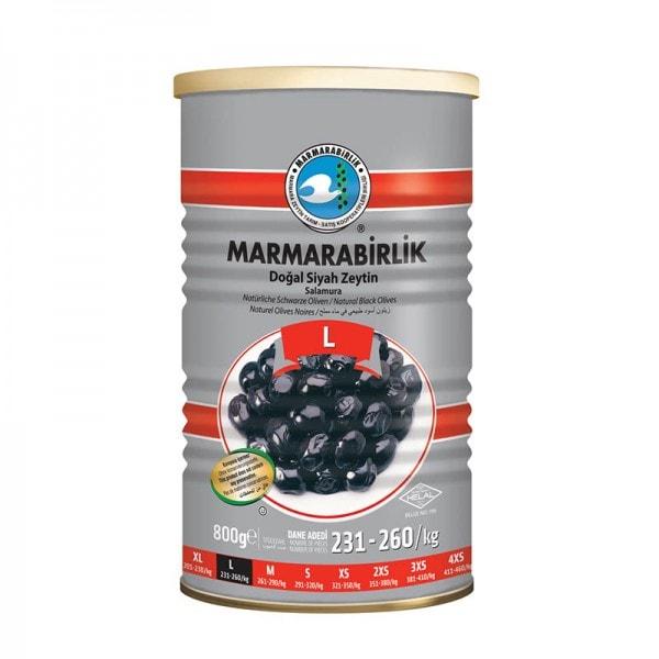 MARMARABIRLIK Natürliche Schwarze Oliven L