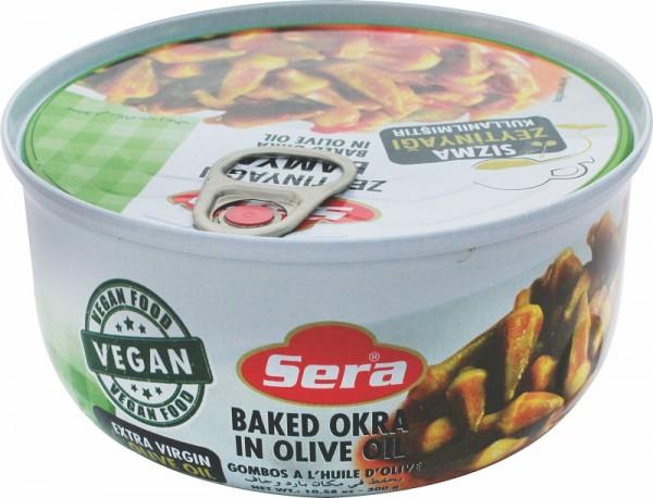 Okraschoten in Olivenöl