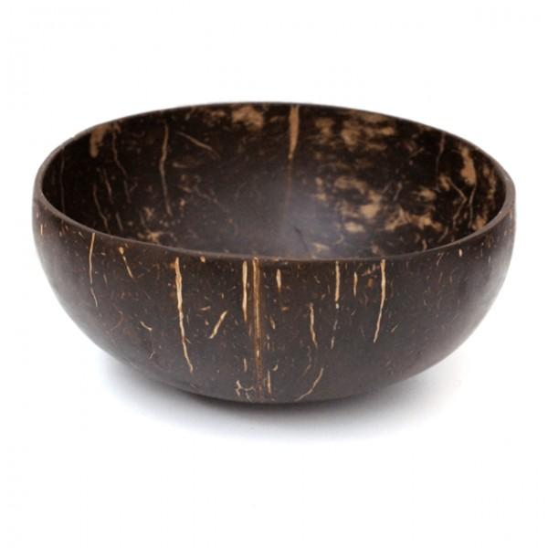 Echte Kokosnuss Schale poliert