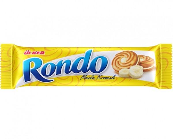 ÜLKER Rondo Kekse mit Bananencremefüllung