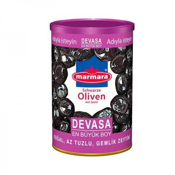marmara Schwarze Oliven mit Stein L