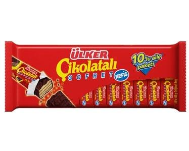 ÜLKER Cikolatali Gofret Schokoriegel 10er Pack