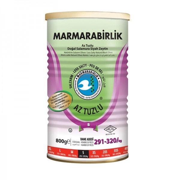 MARMARABIRLIK Natürliche Schwarze Oliven salzarm S