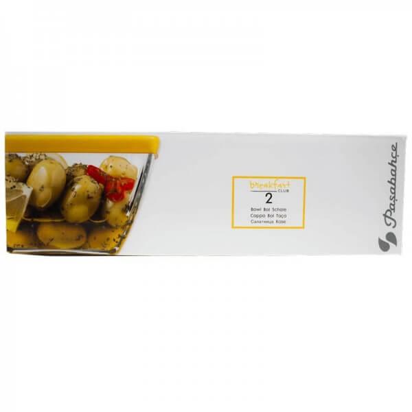 Pasabahce Breakfast Club 2x Glasschalen mit Deckel 53056