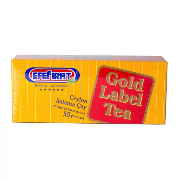 EfeFirat Gold Label Tea Ceylon Tee 25 Beutel