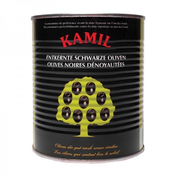 KAMIL Schwarze Oliven entkernt
