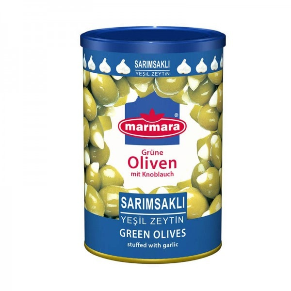 marmara Grüne Oliven mit Knoblauch