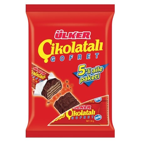 Cikolatali Gofret Schokoriegel 5er Pack