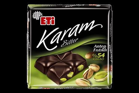 Karam Zartbitterschokolade mit Pistazien 70g