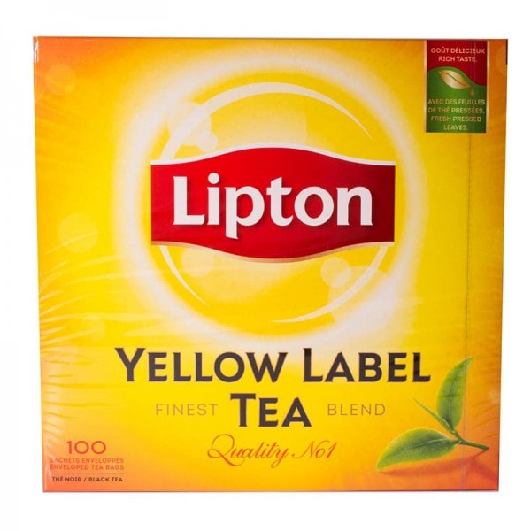 Lipton Yellow Label Tea Schwarzer Tee 100 Beutel