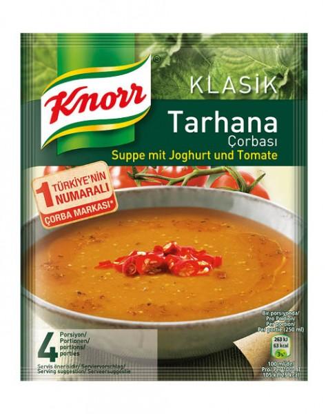 Tarhana Suppe mit Joghurt und Tomate