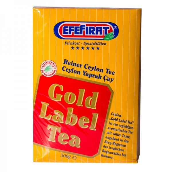EfeFirat Gold Label Tea Ceylon Tee