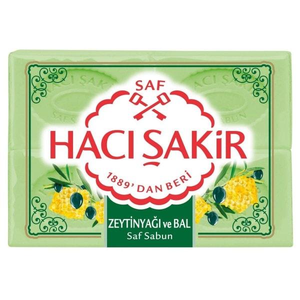 HACI SAKIR Olivenseife mit Honig 4x175g Pack