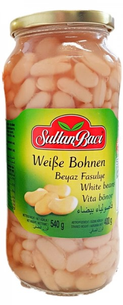 Gekochte Weiße Bohnen 400g