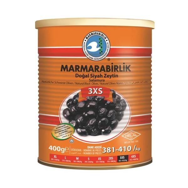 Natürliche Schwarze Oliven 3XS 400g