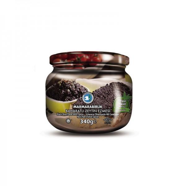 Schwarze Olivenpaste gewürzt 175g