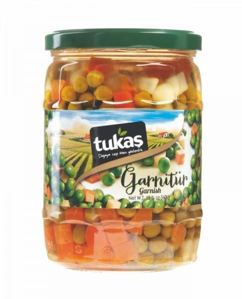 Gemüsegarnitur Erbsen Karotten Kartoffeln