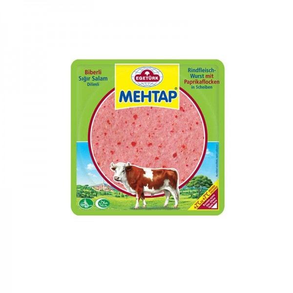 Egetürk Mehtap Rindfleischwurst mit Paprika in Scheiben