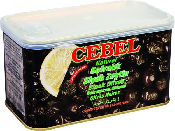 Natürliche Schwarze Oliven 750g