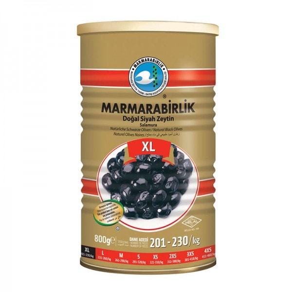 MARMARABIRLIK Natürliche Schwarze Oliven XL