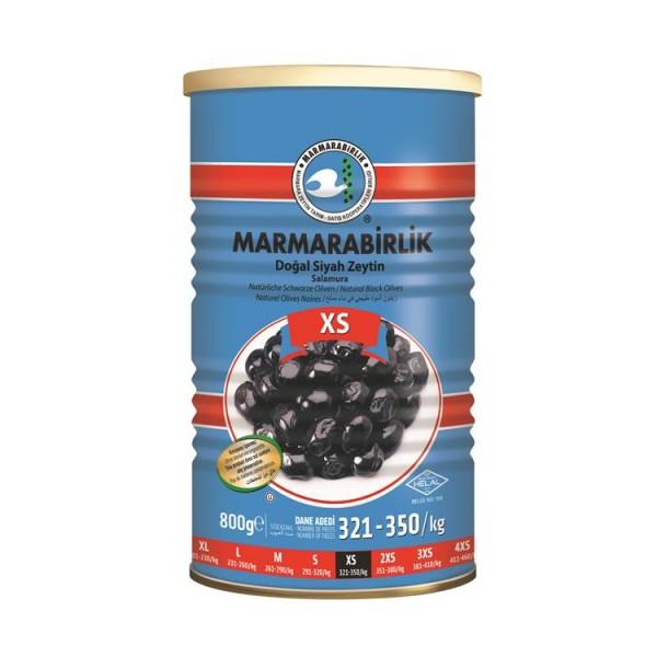 Natürliche Schwarze Oliven XS 800g
