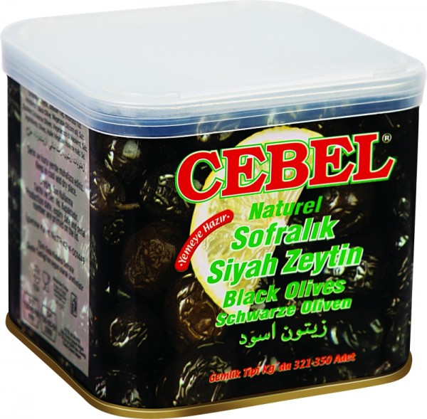 Natürliche Schwarze Oliven 375g