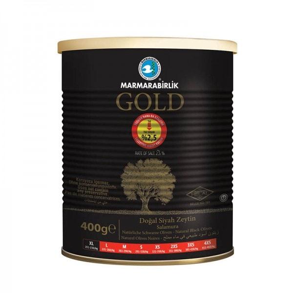 MARMARABIRLIK GOLD Natürliche Schwarze Oliven XL