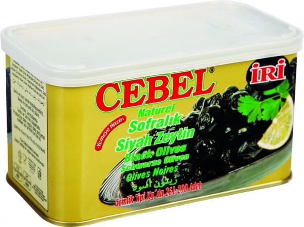 Natürliche Schwarze Oliven groß 750g
