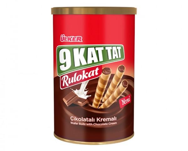 Rulokat mit Schokoladencreme