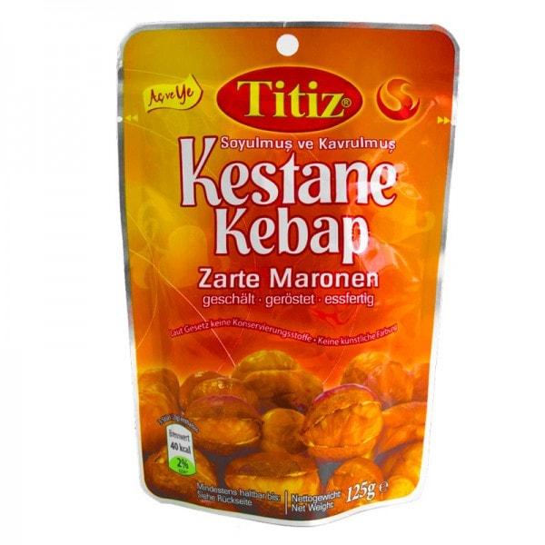 Zarte Maronen geschält und geröstet · Kestane Kebap