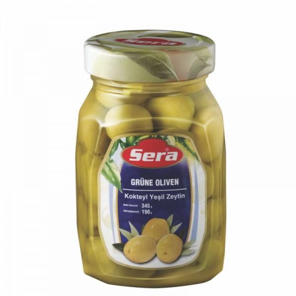 Grüne Oliven mit Stein 190g