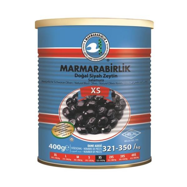 Natürliche Schwarze Oliven XS 400g