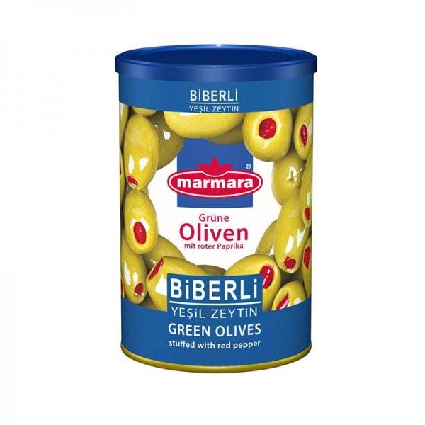 marmara Grüne Oliven mit roter Paprika