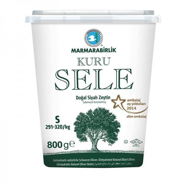 MARMARABIRLIK Kuru Sele Getrocknete natürliche Schwarze Oliven S