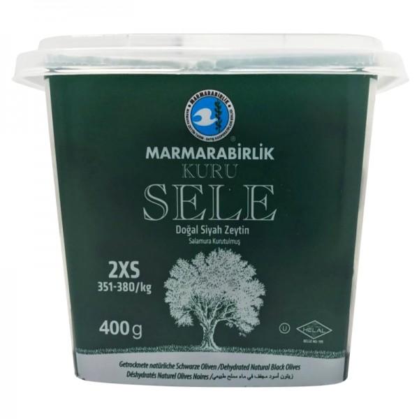 Kuru Sele Getrocknete natürliche Schwarze Oliven 2XS 400g